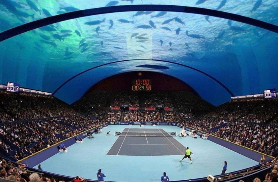 Demasiado en dubai se construir una cancha de tenis for Hoteles bajo el agua espana